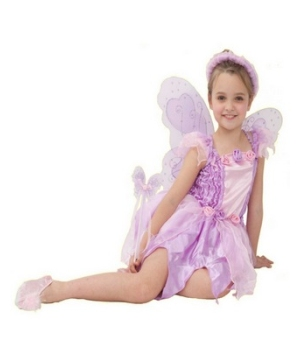 Pink Rosebud Fairy Kids Costume