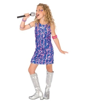 Pop Star Diva Girl Costume