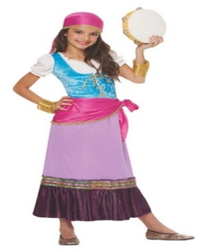Pretty Gypsy Kids Costume
