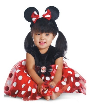 Red Minnie Baby Costume