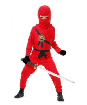 Red Ninja Boys Costume