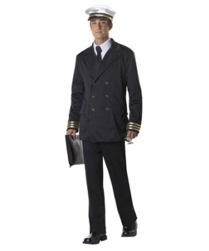 Retro Pilot Men Costume