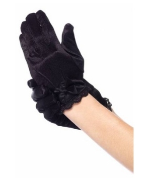 Satin Girls Gloves