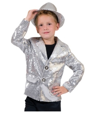 Silver Disco Boys Costume