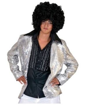 Silver Disco Men Costume