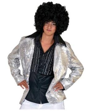 Silver Disco Men Costume