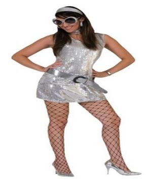 Silver Disco Womens Costume
