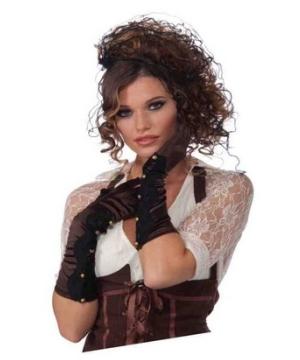 Steampunk Long Brown Gloves