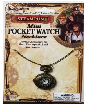 Steampunk Mini Watch Necklace