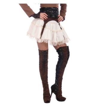 Steampunk Thigh High Boot Covers