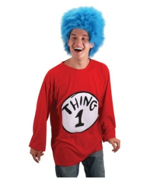 Thing 1 Wig Tee Costume Kit