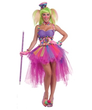 Tutu Lulu Clown Womens Costume