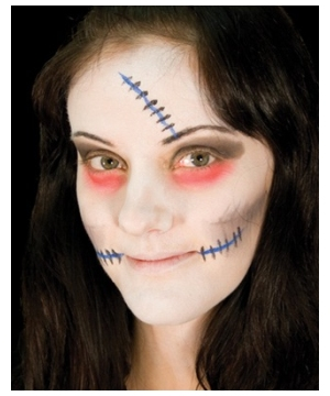 Undead Bride Makeup