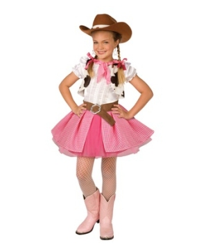 Western Cowgirl Kids Costume