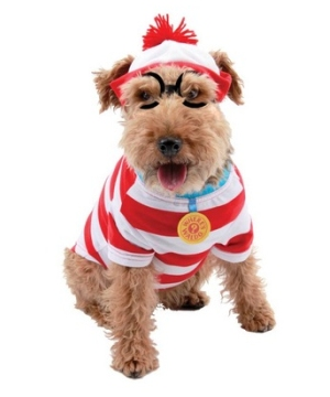 Wheres Waldo Woof Pet Costume