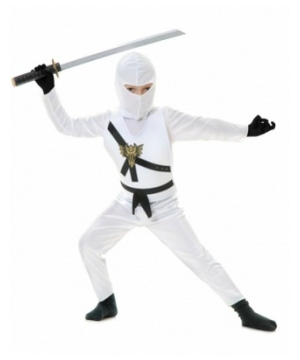 White Ninja Kid Costume