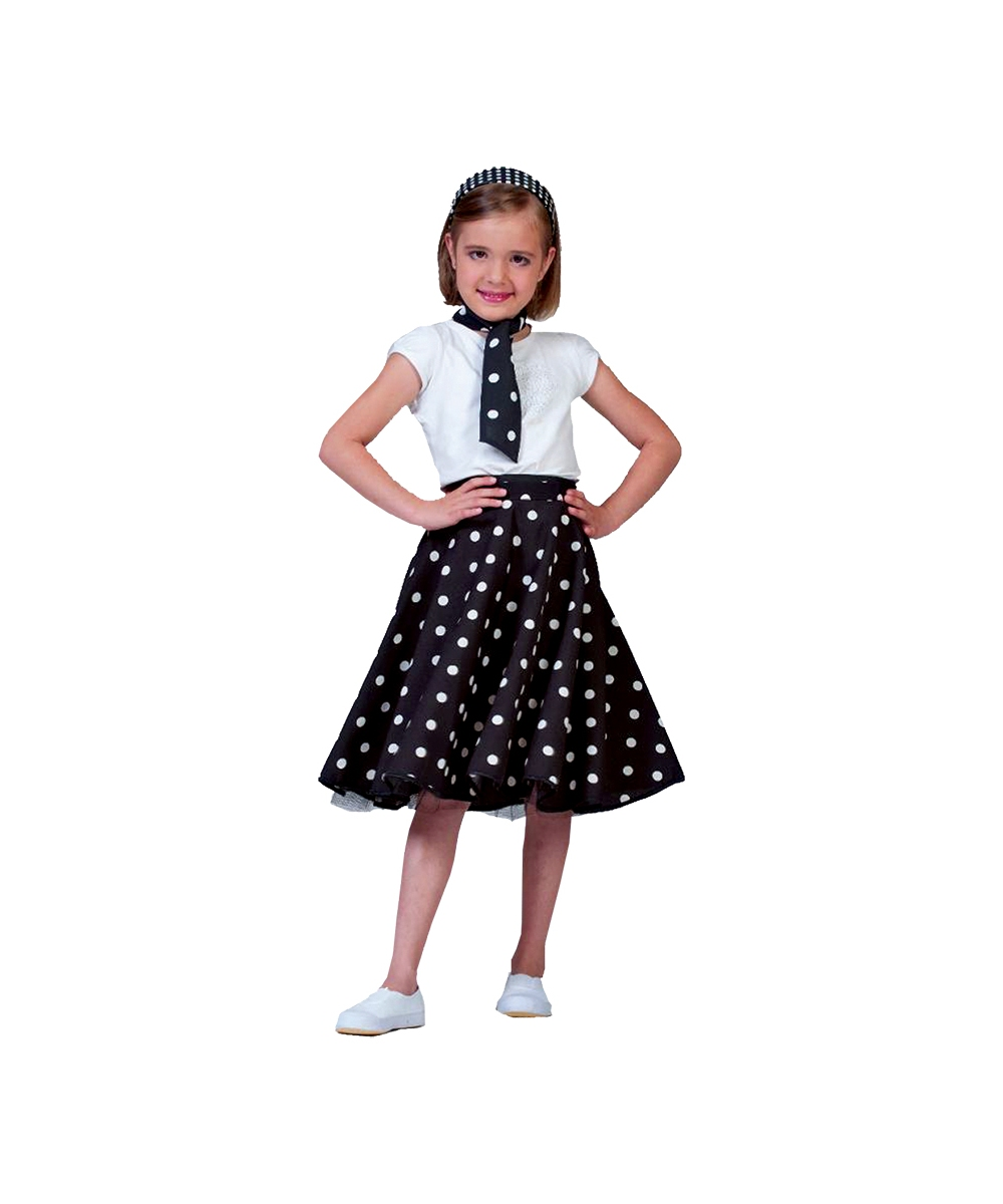 Black Sock Hop Girls Costume