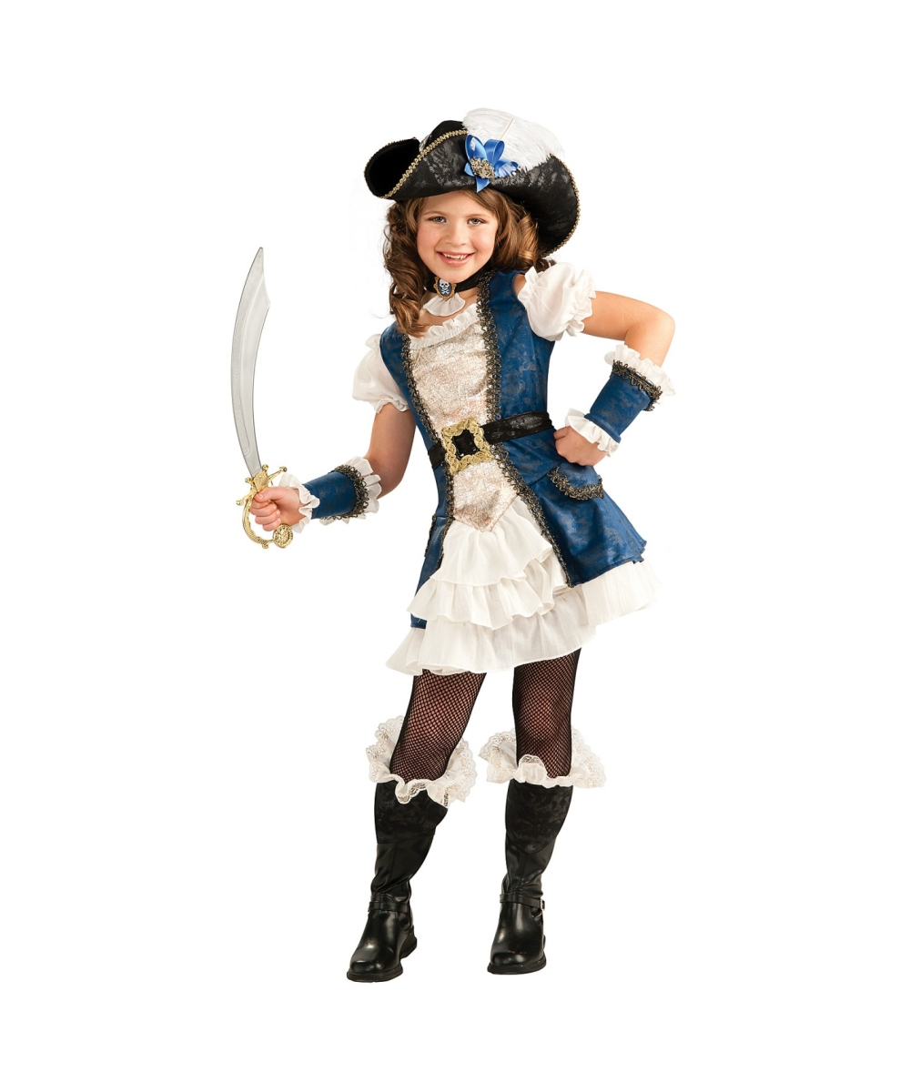 Blue Pirate Girl Disney Princess Costume - Kids Costumes - photo#7