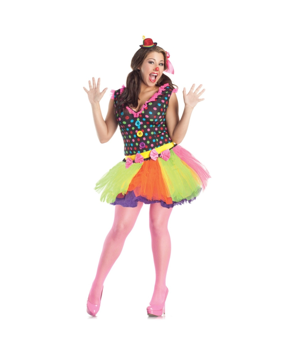 Clown plus size adult costume