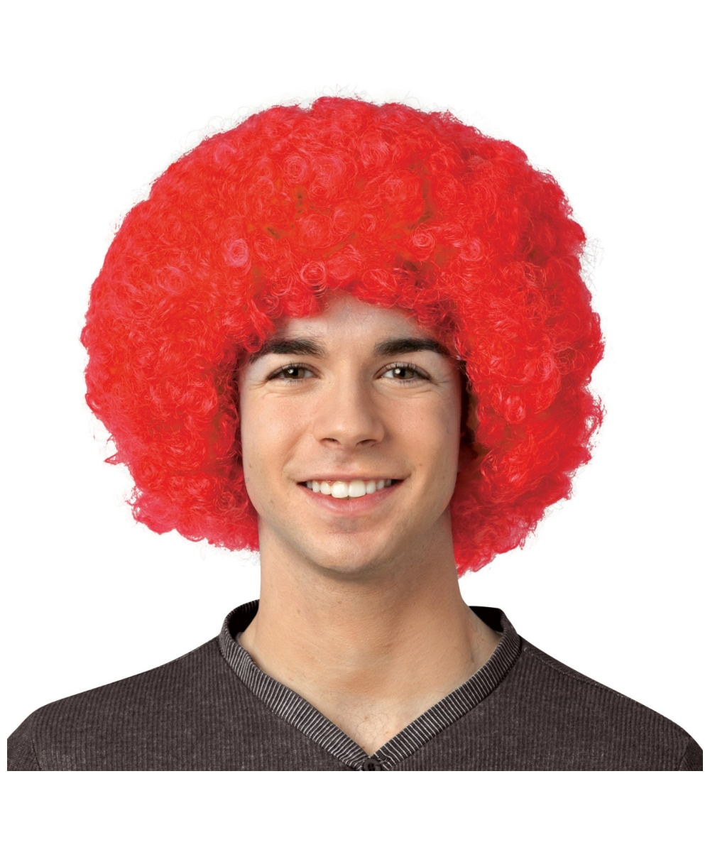 adult crayola red afro wig halloween crayola wigs - Red Wigs For Halloween
