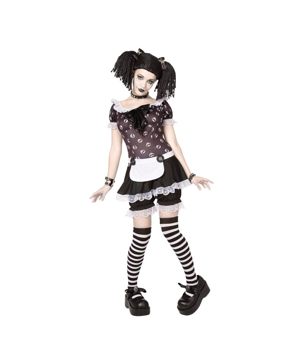 adult gothic doll halloween costume adult costumes. Black Bedroom Furniture Sets. Home Design Ideas