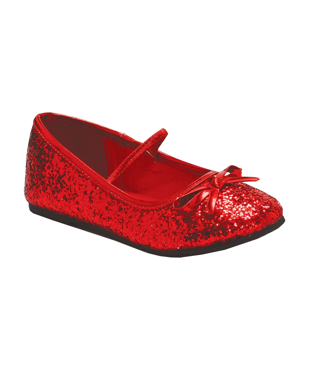 Little Girls Pink Red Glitter Rhinestone Mary Jane Dress Shoes. Cute Mary Jane flats from Bee Happy just for your precious one. Adorable shoes come in pink color with red rhinestones and glitter studded finish. A glossy hook and loop strap adds a stylish touch. more.