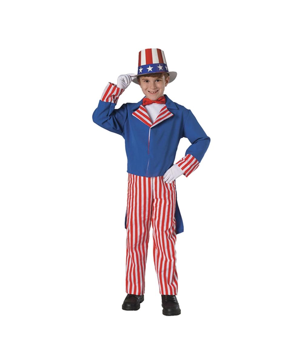 Uncle Sam Kid Costume - Boy Uncle Sam Costumes