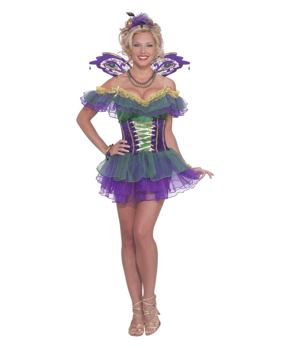 Adult Mardi Gras Fairy Halloween Costume - Mardi Gras Costumes