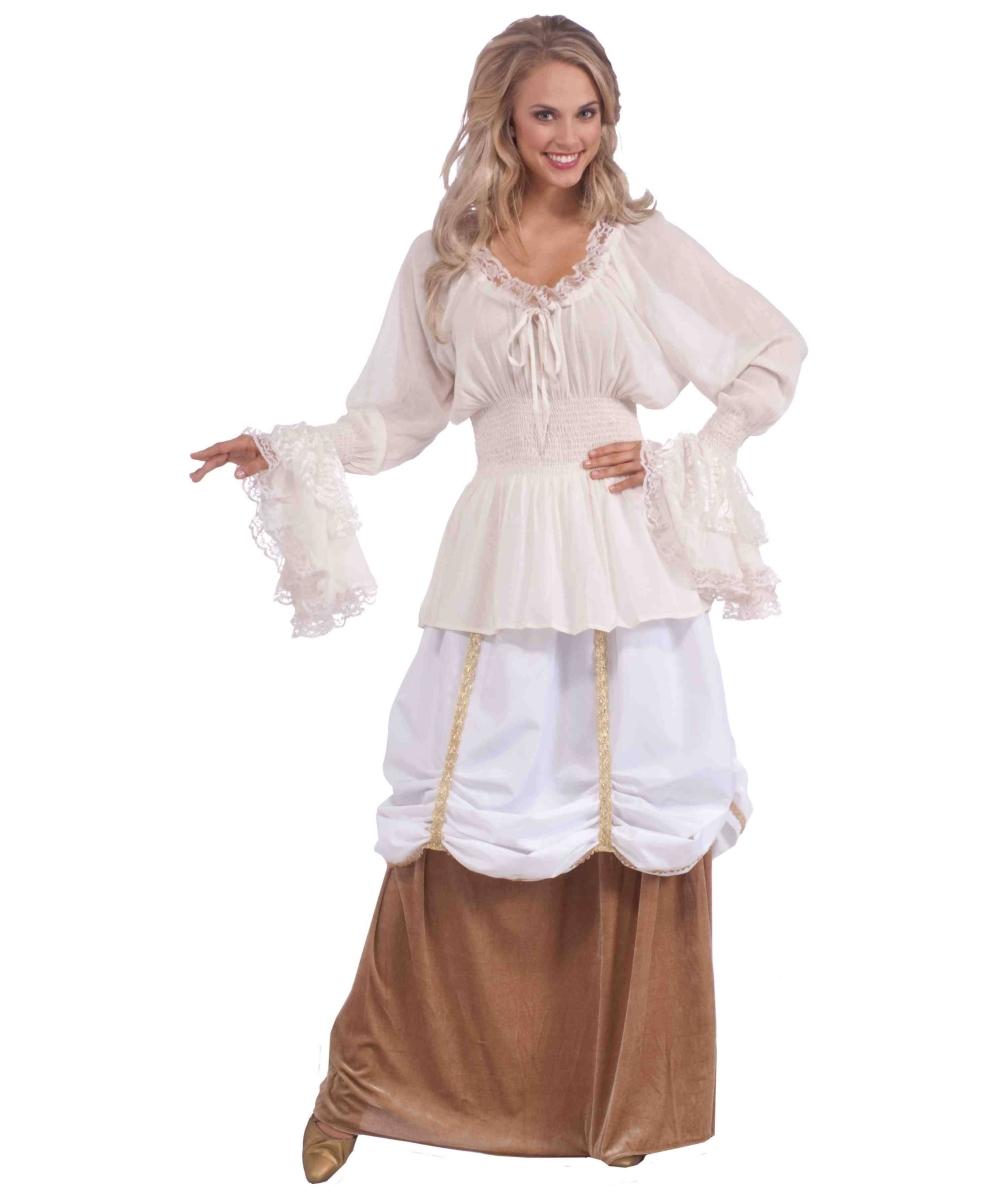 Medieval Dress Plus Size: Adult Medieval Plus Halloween Blouse