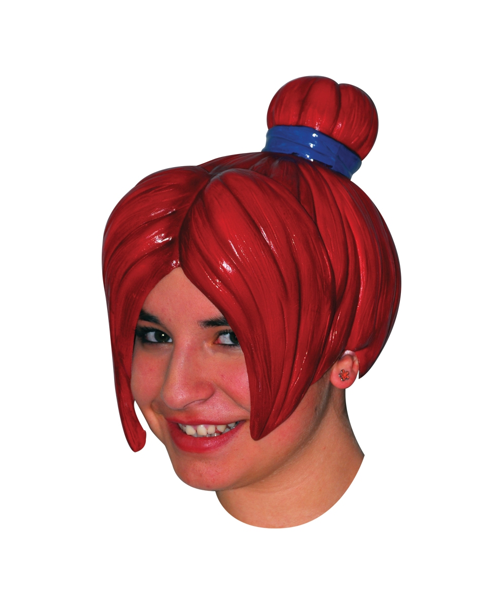 Sailor Red Anime Latex Wig Women Halloween Adult Costumes