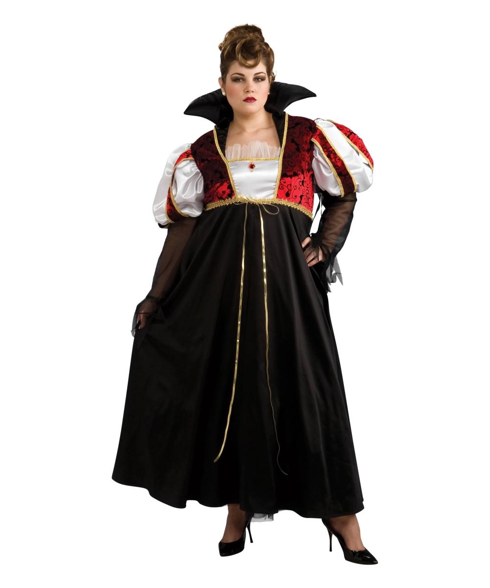 Adult royal vampira plus vampire halloween costume - Costume vampire femme ...