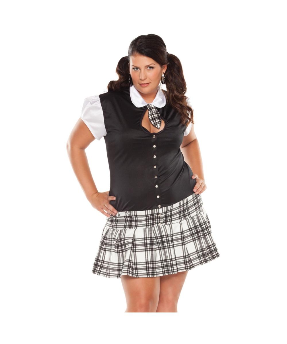 school night girl adult plus size costume - school sexy costumes
