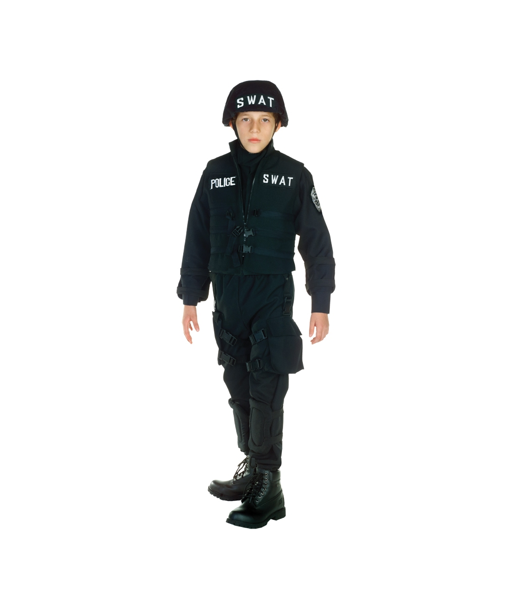 kids swat police officer costume boys costumes