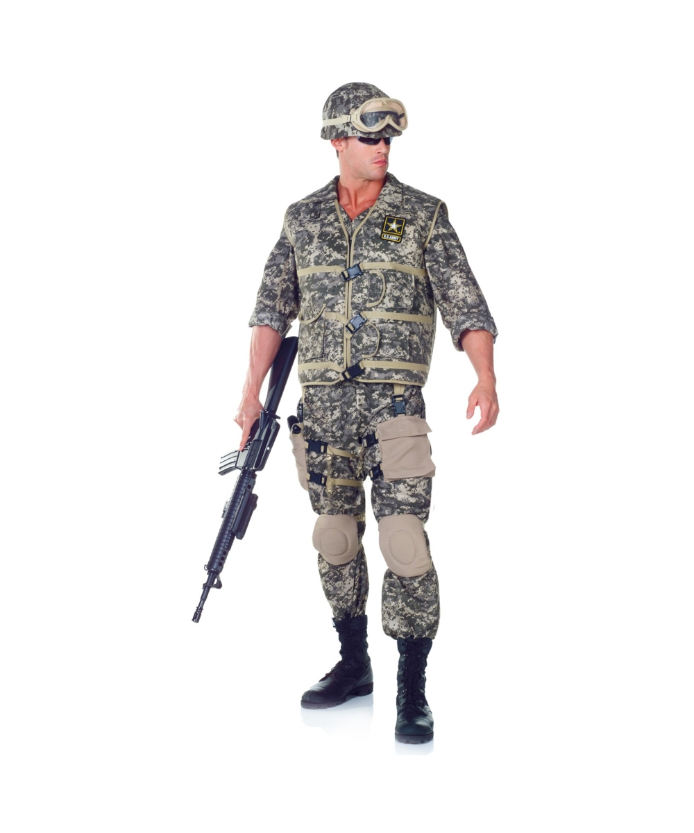 army us soldier adult costume men army costumes - Halloween Army Costumes