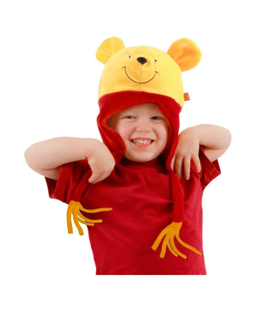 pooh hoodie kids hat halloween costume hats. Black Bedroom Furniture Sets. Home Design Ideas