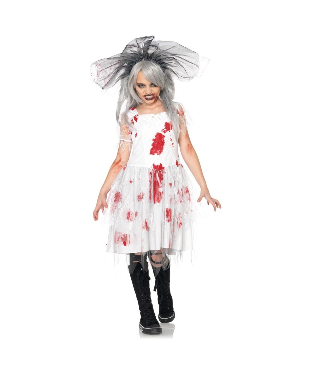 Zombie Bride Kids Halloween Costume