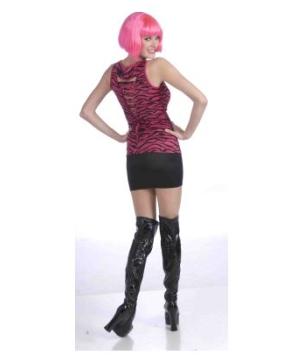 80s Pink Zebra Shirt Costume