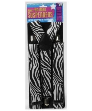 80s Zebra Suspenders