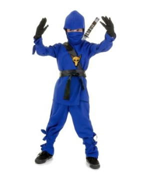 Blue Ninja Boys Costume