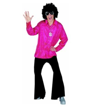 Disco Groovy Shirt Men Costume