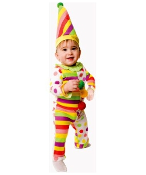 Dots Stripes Clown Baby Costume