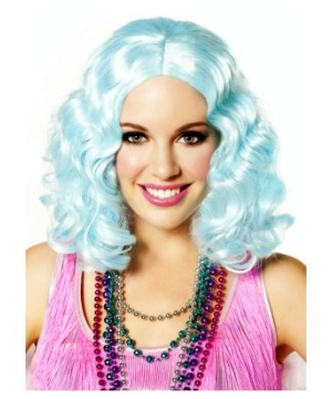 Icy Blue Flapper Wig