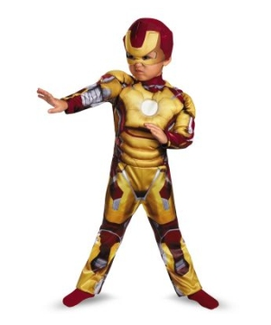 Iron Man Muscle Toddler Boys Costume