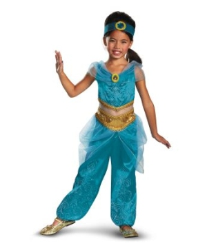 Jasmine Sparkle Disney Girls Costume