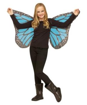 Kids Blue Soft Butterfly Wings