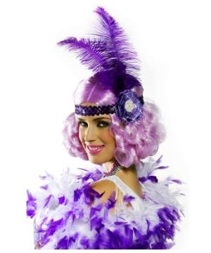Lilac Flapper Wig