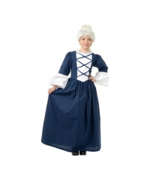 Martha Washington Girls Colonial Costume