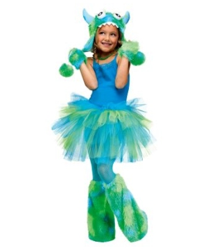 Monster Hoodie (blue/green) Kids Costume Accessory