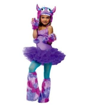 Monster Purple Kids Hoodie Accessory