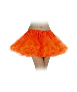 Neon Orange Petticoat Tutu Skirt